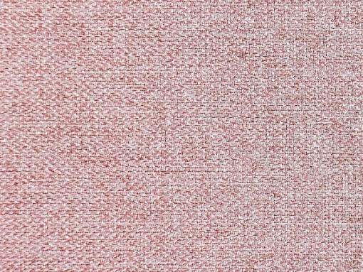 Tela color rosa. Sofá cama con patas de madera y arcón - Monaco