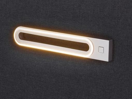 Luces LED cerca. Cama con colchón de muelles ensacados, arcón 180 x 200 cm - Martina
