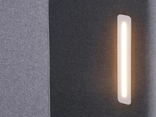 Luces LED. Cama boxspring 180 x 200 cm modelo Valeria