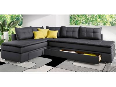 Corner sofa with 2 storage compartments and bed 180 x 200 cm - Austin