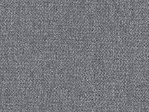 Light grey soft to touch fabric of the Barbara bed with LED lights
