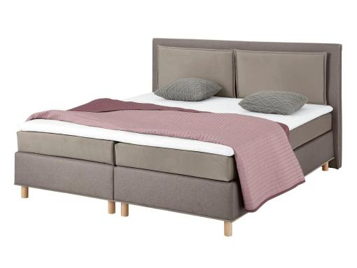 Light brown fabric (2 tones) of the Angelina bed