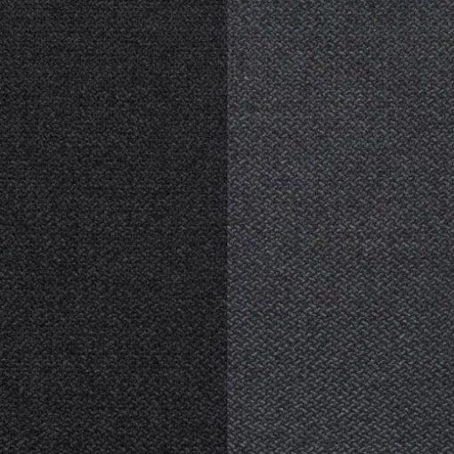 Tela sintética de 2 tonos de gris. Sofá rinconera grande convertible en cama boxspring 180 x 200 cm - Atlanta
