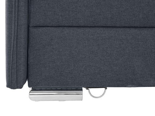 Tela y pata metálica cerca. Sofá rinconera grande convertible en cama boxspring 180 x 200 cm - Atlanta