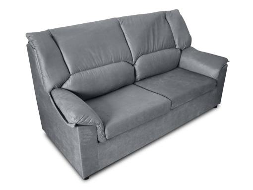 Small inexpensive 3-Seater sofa - Nimes. Grey stain resistant fabric