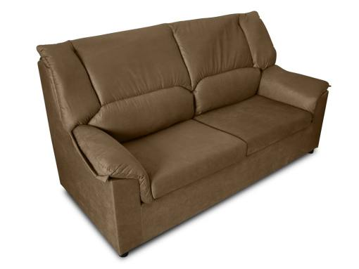 Small inexpensive 3-Seater sofa - Nimes. Brown stain resistant fabric