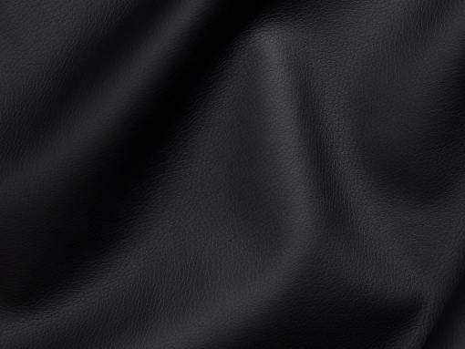 Piel sintética, color negro del sofá chaise longue grande modelo Vernon