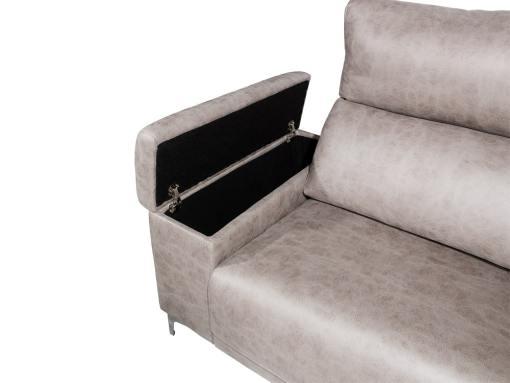 Arcón en el brazo del sofá modelo Huelva