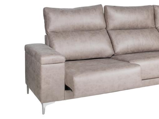 Asientos deslizantes y repozacabezas reclinables del sofá modelo Huelva