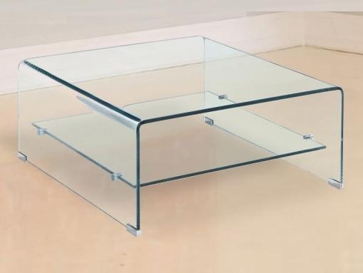 Mesa de centro de cristal, cuadrada, 80 x 80 cm - Onil