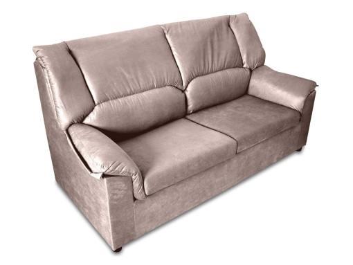 Маленький прямой 3-местный диван - Nimes. Бежевая пятноустойчивая ткань