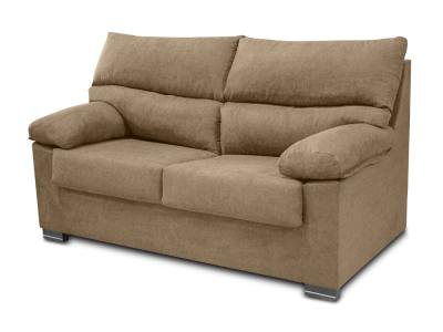 Inexpensive 3-seater sofa in synthetic fabric - Salamanca. Biege