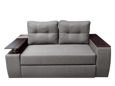 Small 2 seater sofa bed with storage compartments - Ostend 2. Grey fabric