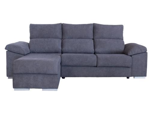 Front View. Estepona Sofa. Grey Fabric