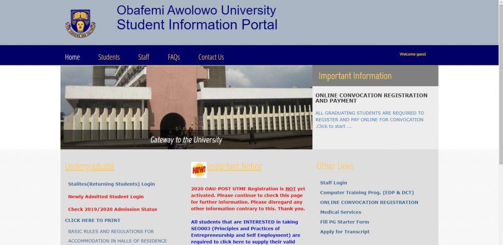 OAU acceptance fee
