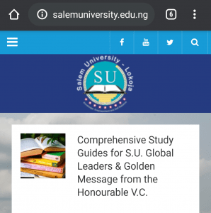 Salem University post utme