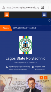 Lagos State Polytechnic ND part time