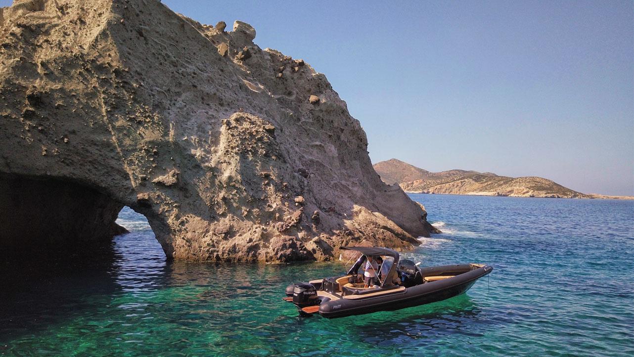 Paros - Antiparos - Despotiko - Private day cruise | Don Blue RIB boat rental