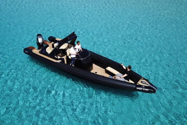 Mykonos Private Boat for rent - Don Blue Yachting - ORION FOST MATRIX Black edition