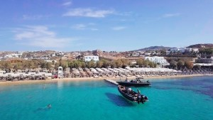 corporate events private RIB boat rental - don blue mykonos