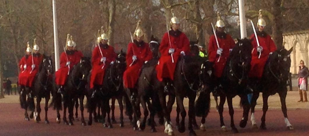 The Queen's Lifeguards on the Mall