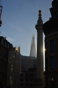 the monument and the shard