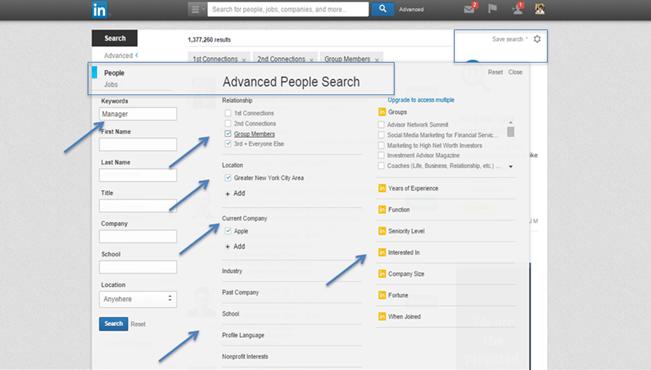 LinkedIn Advanced Search