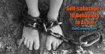 Self-sabotage – 10 Behaviors to Avoid