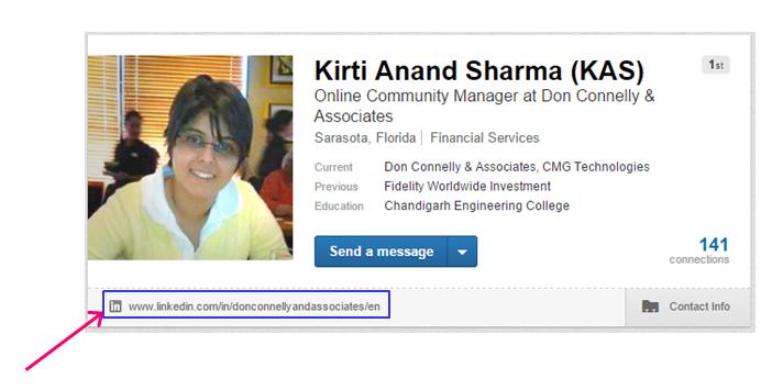 Claim vanity URL on your LinkedIn profile