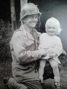 Don and his eldest daughter Sarah in the late 70s on the set of The Big Red One