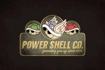 power shell mario kart illustration