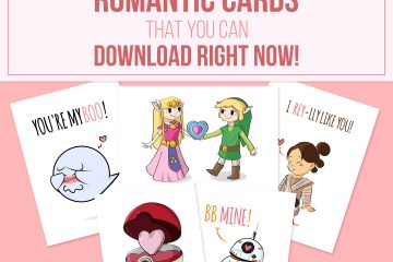 20+ Printable Valentine Cards that you can Download Right Now! by Don Corgi on Etsy