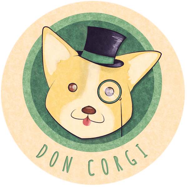 Don Corgi Logo, Rounded