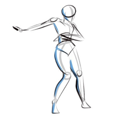 Gesture Drawing in Art is all about capturing the overall pose and shapes of your character as quickly as possible