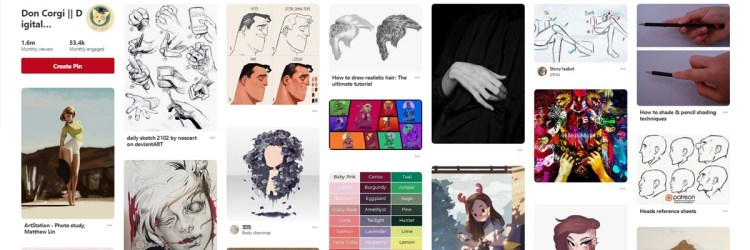 I love using Pinterest to find reference material, the amount of images available is huge!