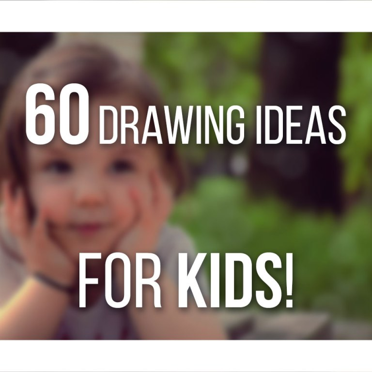 60 Drawing Ideas for Kids, from toddlers to teens, check out some ideas and drawing prompts to encourage drawing!