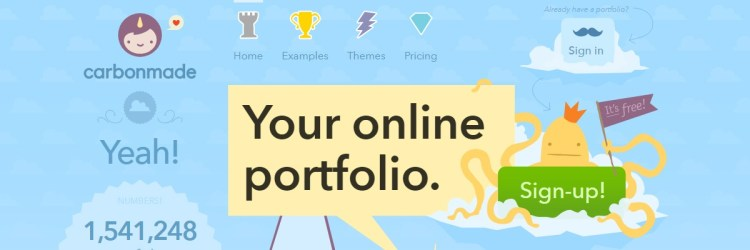 Carbonmade is a very straightforward portfolio website which is free!