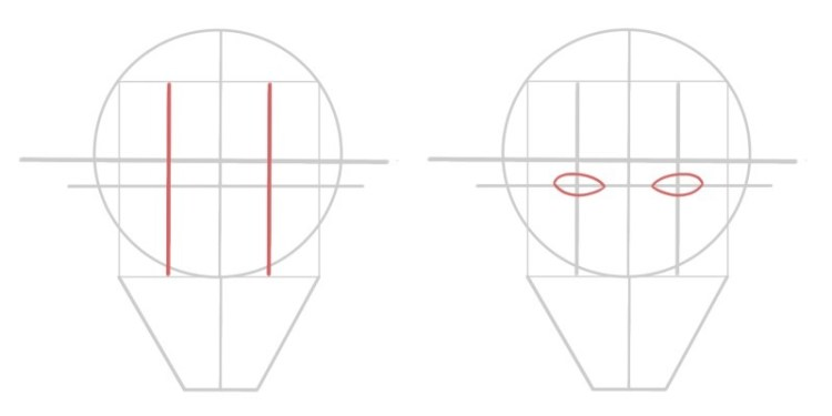 Here's how you find the position of the eyes when drawing a face