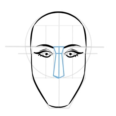Drawing the nose is easy! Here's how you can do it.