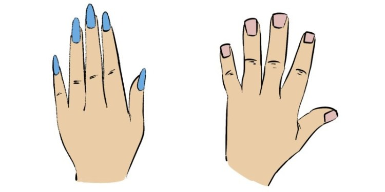 Masculine and Feminine hands look pretty different, here are the main differences.