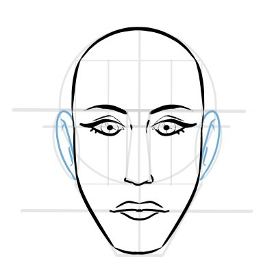 Feel free to try out different styles and ways to draw the features.