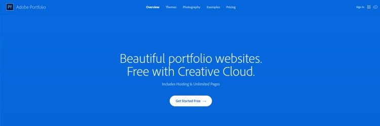 If you have Creative Cloud, check out the Adobe Portfolio free portfolio builder.