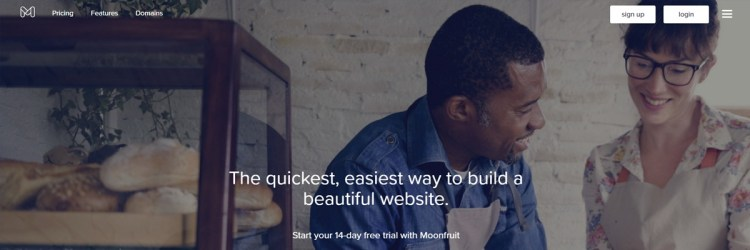 Moonfruit is a decent paid option to build your website, but beware of the ads!