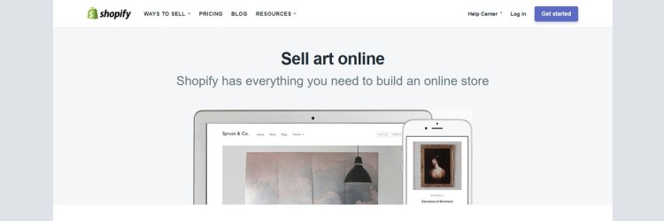 Shopify, although somewhat expensive, can be a great way to sell your artwork without much tech involved.