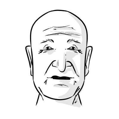 When drawing old faces, remember to add wrinkles and to use photo references to help you!