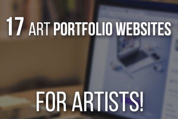 The best 17 Art Portfolio Websites for Artists that you need to see! Both Free and Paid options.
