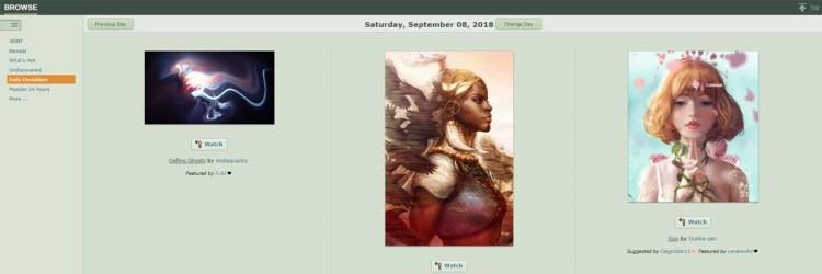 Deviantart has a very young audience, but can be a good way to make some money with your art online.