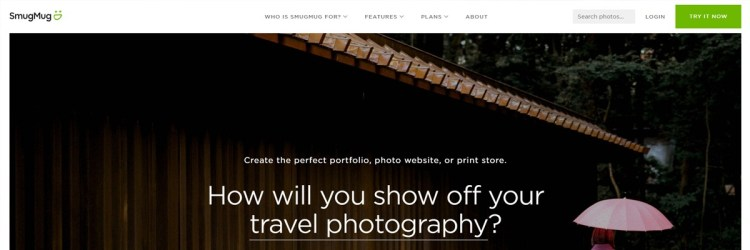 Perfect for Photographers, SmugMug is a really good looking art portfolio website.