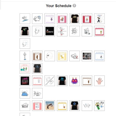 Tailwind is amazing to queue your posts on Pinterest for months to come. Here's an example of my schedule.