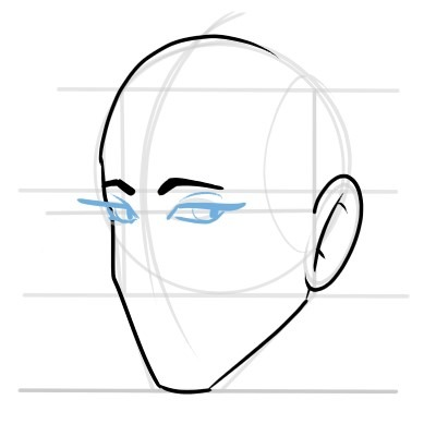 The eyes look a bit more slanted in a three quarters view.